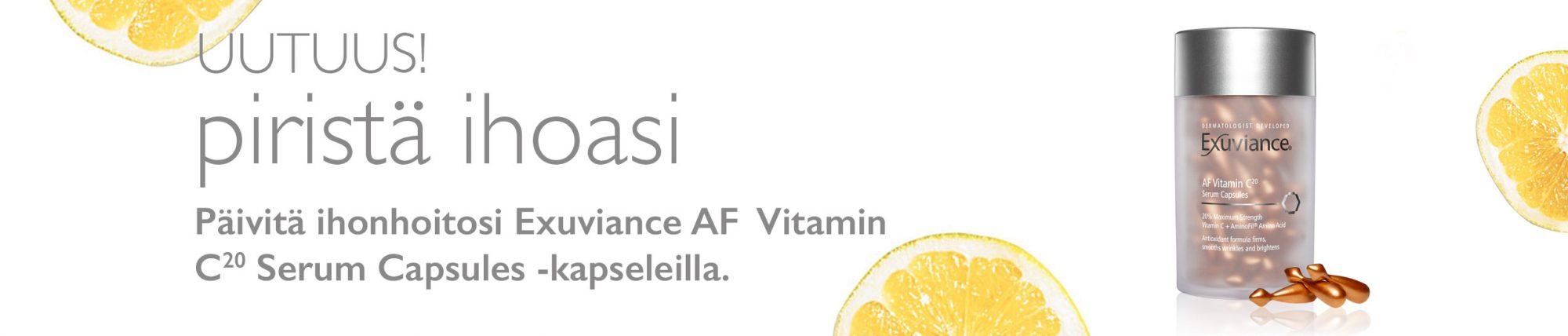 Ihana Exuviance uutuus! C-vitamiini kapselit